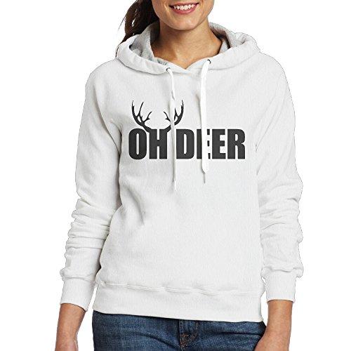 IcyHot Women's Hood Oh Deer Dear Size M White (Shrek Costume Ideas)