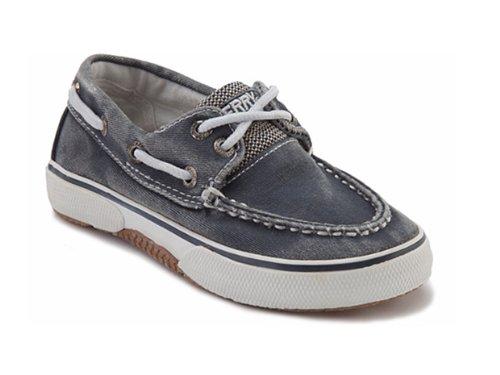 Keds Kids Sperry Halyard H&L yb40407a - Zapatos clásicos de lona para niño Marrón
