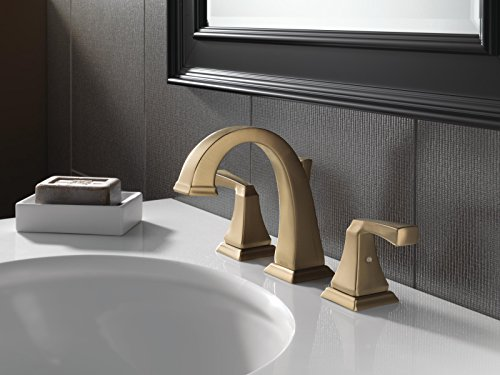 Delta 3551LF-CZ Dryden 2-Handle Widespread Bathroom Faucet with Metal Drain Assembly, Champagne Bronze by DELTA FAUCET (Image #4)