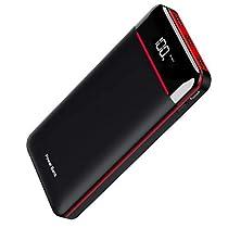 モバイルバッテリー 25000mAh 大容量 急速充電 3個LEDランプ搭...