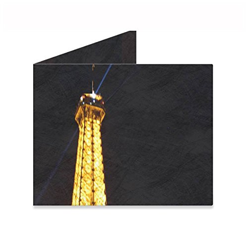 Pa Design - Cartera de Papel Tyvek indéchirable - Modelo Torre Eiffel de noche: Amazon.es: Oficina y papelería