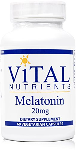 Vital Nutrients - Melatonin 20 mg - Supports the Body's Natural Sleep Cycle - 60 Capsules