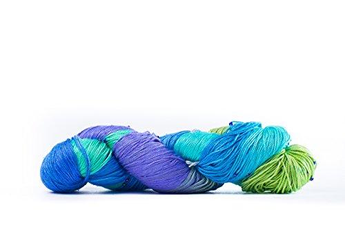 - Darn Good Yarn, Hand Beaded Silk Yarn, 275 Yards, Moody Blues, 50 Grams, 1 Skein