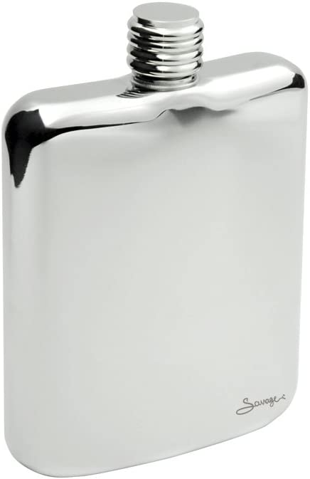 iSavage 6oz Popular Water Droplet Shaped Hip Flask with a Funnel,Mirror Finishing 18//8 Stainless Steel-YM120