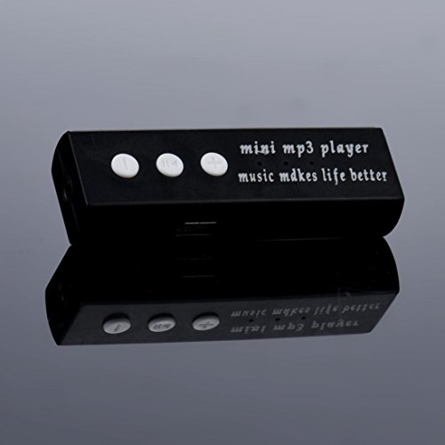 MP3 Player,Tuscom USB Mini MP3 Player LCD Screen Support 32GB Micro SD TF Card (5.9X 1.9X 1.5CM/Black)