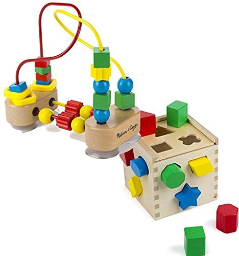 - Bundle Includes 2 Items - Melissa & Doug First Bead Maze - Wooden Educational Toy and Melissa & Doug Shape Sorting Cube - Classic Wooden Toy With 12 Shapes