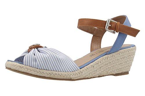 MUSTANG - Damen Keil-Sandaletten - Hellblau Schuhe in Übergrößen