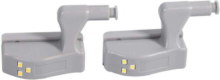 10Pcs Capteur intelligent Cabinet Armoire Placard Armoire DEL Charnière Lumière Maison Cuisine