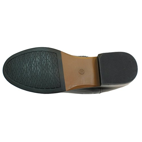 Negro mujer botas estilo negro AMBASSADOR motero AqaUwnI