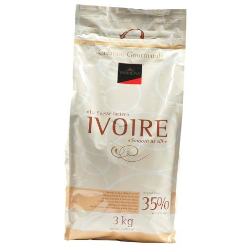 Valrhona White Chocolate - 35% Cacao - Ivory - 6 lbs 9 oz bag of feves by Valrhona