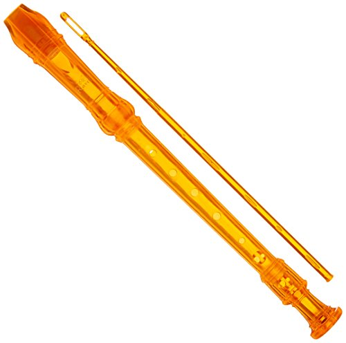 Ravel PR19COR Transparent Recorder with Cleaning Rod and Bag, Orange from Ravel