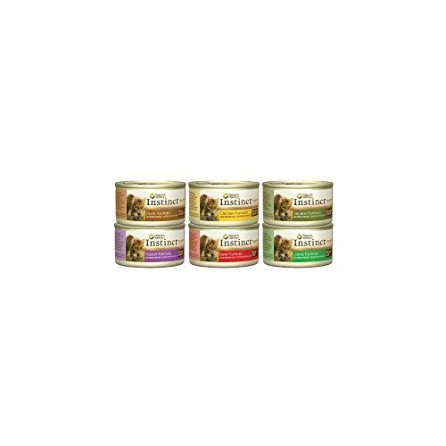 Nature's Variety Instinct Canned Cat Food Variety Pack (Lamb, Chicken, Beef, Venison, Rabbit, Duck) 12, 3-ounce - Canned Venison Cat Food