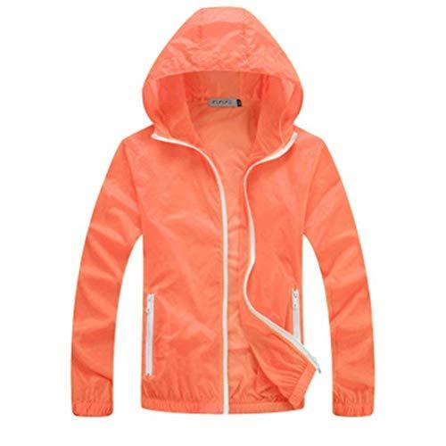 Rápido Protector Orange Solar Protección Cazadoras Abrigos Piel Uv 1 Unisex Pureed Rompevientos Secado Ropa Transpirable x8nZw08Tqa