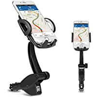 Phone Car Mount Holder, Ameauty 3 in 1 Cigarette Lighter Car Mount Charger with Dual USB Charging Ports for iPhone X/8/8 Plus/7/7Plus, 6s/6s Plus, Samsung Galaxy S8/S8 Plus and More