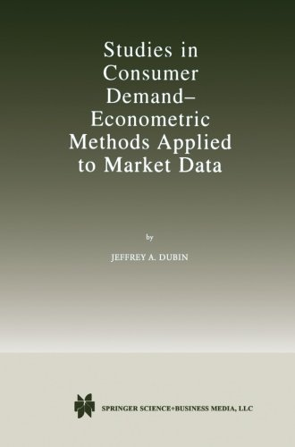 Studies in Consumer Demand ? Econometric Methods Applied to Market Data