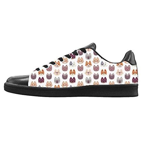 Dalliy Custom Fox Mens Canvas Shoes I Lacci delle Scarpe in Alto Sopra Le Scarpe da Ginnastica di Scarpe Scarpe di Tela.