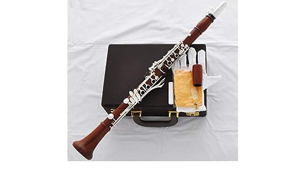 FidgetGear - Clarinete profesional de madera con estuche (19 teclas), color plateado: Amazon.es: Instrumentos musicales