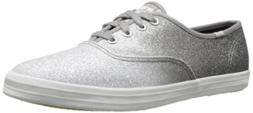 Keds Women's Champion Ombre Glitter Fashion Sneaker, Gray, 10 M US