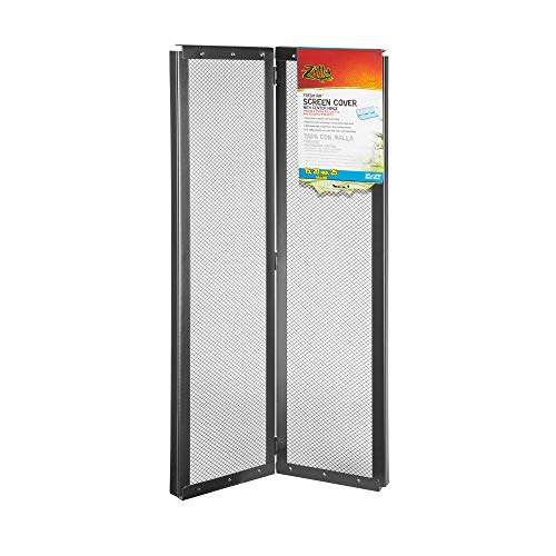 (Zilla Screen Cover with Center Hinge for Reptiles, 24