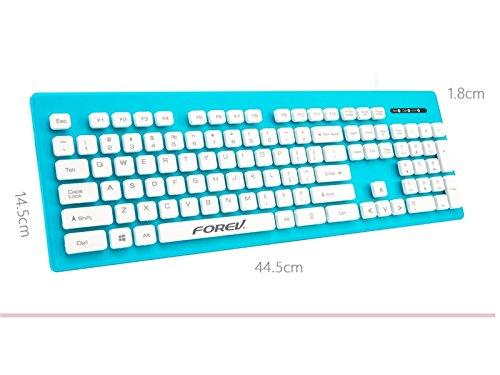 ゲーミングキーボード、メタルバックライト付きUSBゲーミンググリーンアクシスメカニカルキーボード(ブルー)   B07MM11Q88
