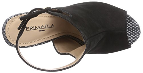 Primafila MO2720 - sandalias abiertas de cuero mujer multicolor - Mehrfarbig (MINI SNAKE-BLACK)