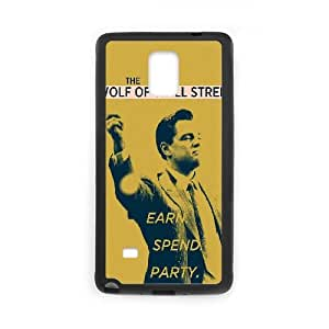 The Wolf Of Wall Street Funda Samsung Galaxy Note 4 Funda caja del teléfono celular Negro K2N7RT Custom Phone Cases