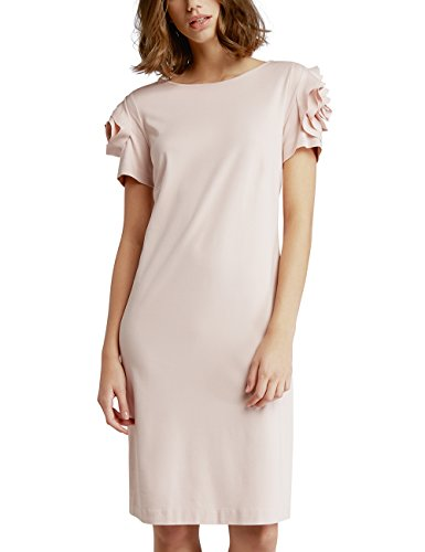 APART Fashion Mauve-Silvergrey-Smokyblue-Dots, Jacquards & Print, Robe Femme Rosa (Mauve)