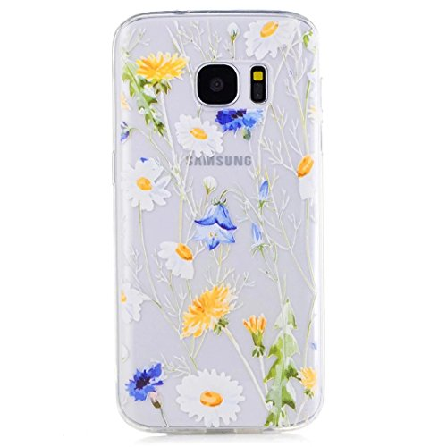 Samsung Galaxy S7 Case, KSHOP Premium Accessory Ultra Thin Transparent Clear Soft Gel TPU Silicone Case Cover Bumper Shellfor Samsung Galaxy S7-Chrysanthemums