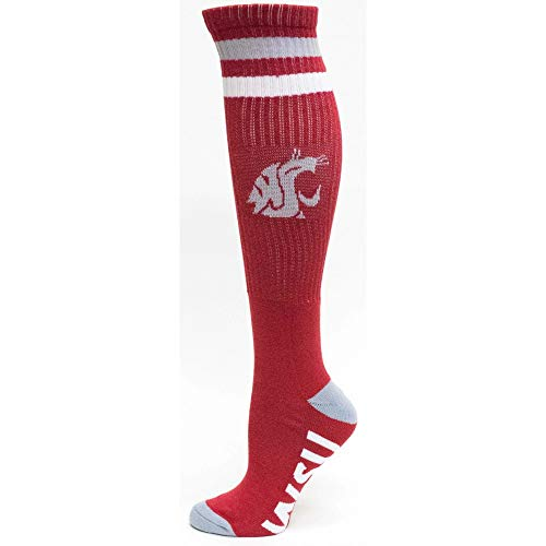 Donegal Bay Washington State Cougars NCAA White Knee High Tube Socks