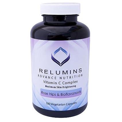 Relumins avanzar vitamina C - complejo con rosa mosqueta y Bioflavinoids - 180 cápsulas (suministro