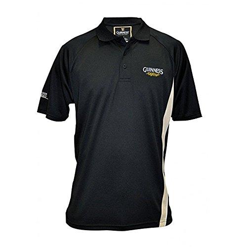 Guinness Performance Golf Shirt, Large, Black - Logo Golf Shirt
