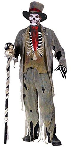 Funworld Mens Scary Skeleton Zombie Gauze Groom Fancy Halloween Costume, One Size (33-45)