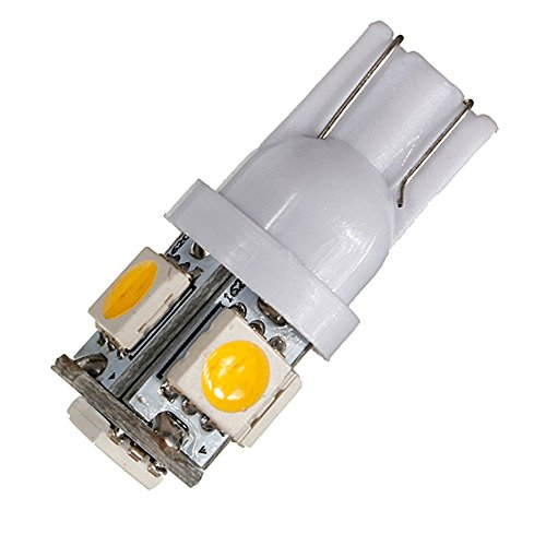 30 pack 194 t10 168 2825 warm white led light 12v amazenar 5 smd 5050 chipset car interior. Black Bedroom Furniture Sets. Home Design Ideas