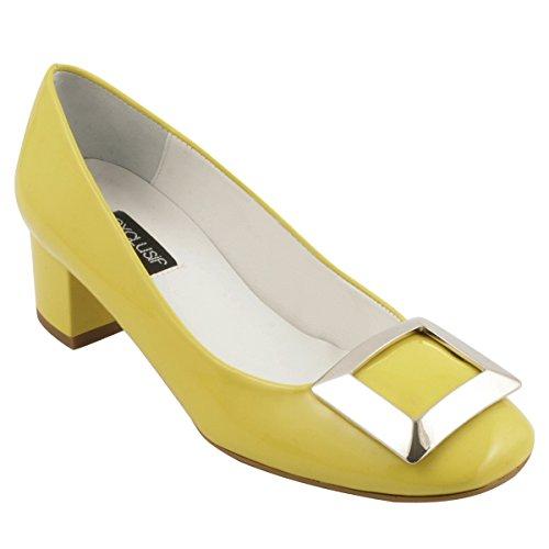 Paris de Exclusif para Vestir Mujer Zapatos Amarillo AzwxwdRE