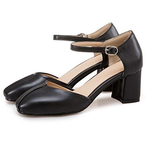 Vamp L2738 Mujer Negro Satén Punta Abierta Zapatos Tacón Alto Sandalias Del Partido EU 37 aGupKCb7
