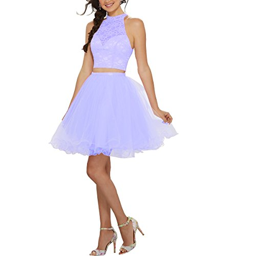 Beauty L019 Homecoming Short Lace Tulle Gown Lilac Bridal s Women Dress Prom rvq4pr
