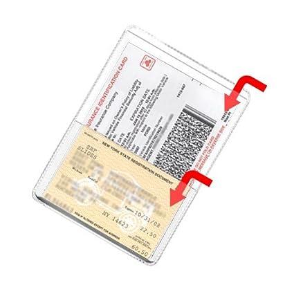 StoreSMART - Clear-Plastic Auto Insurance & ID Card Holders - 10 Pack -  RFS20-C10