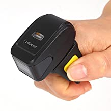 Bifrost Bluetooth Ring Barcode Scanner Portable Mini Bluetooth Scanner 1D Barcode Reader Battery Capacity 360mA BS-6340[Black]
