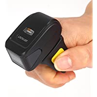 Bifrost Portable Ring Barcode Scanner Mini Bluetooth Scanner 1D Barcode Reader Battery Capacity 360mA BS-6340[Black]