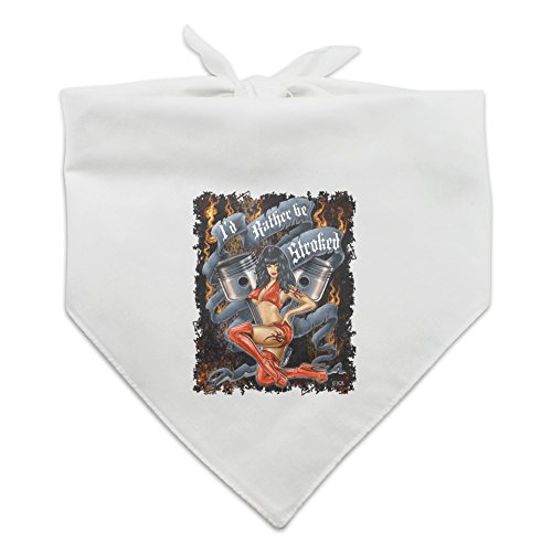 - Graphics and More Pistons I'd Rather Be Stroked Hot Rod Motorcycle Dog Pet Bandana - White