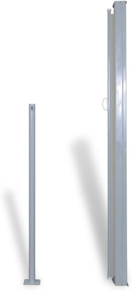 Tidyard Tenda da Sole Laterale Retrattile Tendalino Laterale per Patio Terrazzo Tenda da Esterni Tenda da Sole Laterale 180 x 300 cm Crema