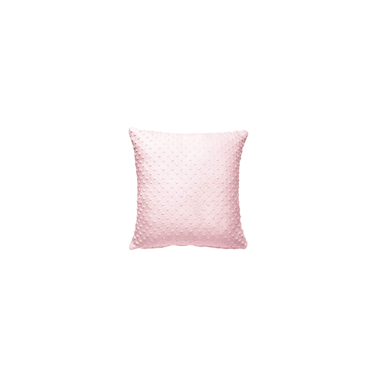 Baby Doll Bedding Heavenly Soft 2 Piece Crib Throw Pillow Cover, Pink