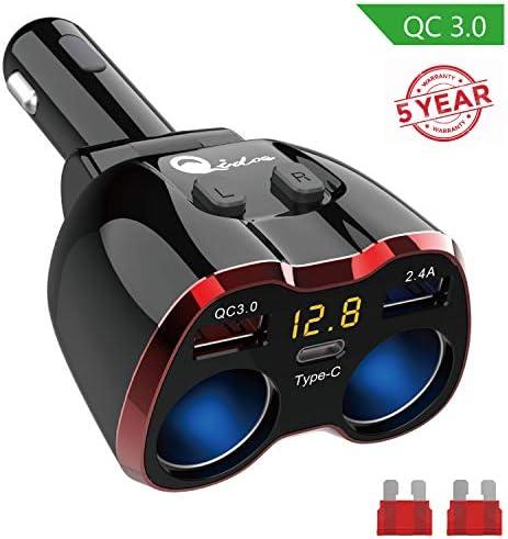 Cigarette Lighter Splitter 2 Socket Voltmeter product image