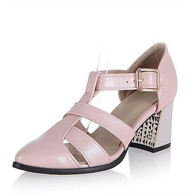LvYuan Mujer-Tacón Robusto-Otro-Sandalias-Vestido Informal Fiesta y Noche-PU-Negro Rosa Blanco Gris Pink