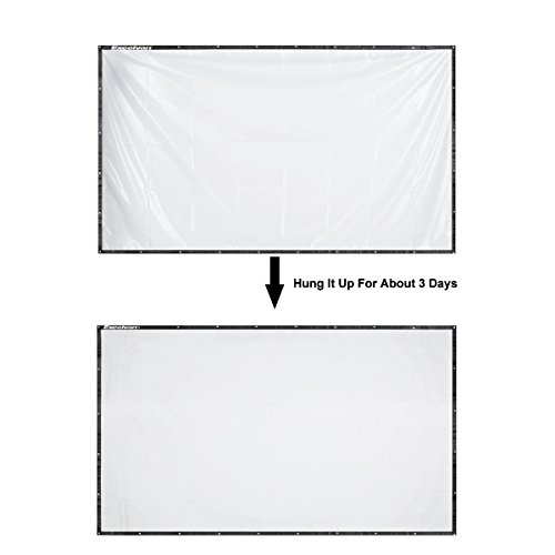 120 Inch 16:9 Portable Projector Screen High Contrast Collapsible PVC HD 4K Design with Hanging Hole Grommets for Front Projection Home Indoor and Outdoor Movie Match Party by Excelvan (Image #4)