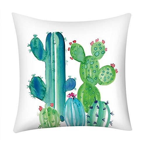 (DZT1968  Print Pillow Case Polyester Sofa Car Cushion Cover Home Decor,Polyester,Green Plant Theme, Cactus, Rainforest,Decor Your Home,Living Room,45X45cm (F))