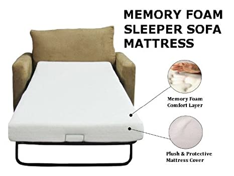 Amazon.com: Eco Mattress Store Sleeper Sofa Memory Foam Mattress Queen 58 X  72 X 4.5: Kitchen U0026 Dining