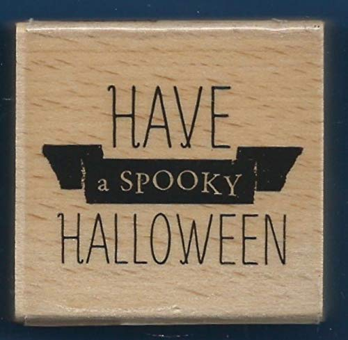 Rubber Stamp Frames Have A Spooky Halloween Card Words Hampton Art 2014 New Rubber Stamp