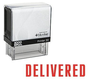 Delivered Office Self Inking Rubber Stamp - Red Ink (A-5100) by StampExpression