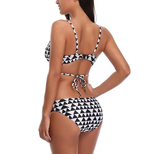 Da Costume Donne Push Costumi Bikini Bianca stampa Set Reggiseno Da Bagno Da Imbottito geometrica Bagno Costume Stampa Bagno Up Fami pxwS0Bff